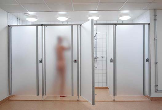 Frosted cubicle systems Itrim in Gothenburg