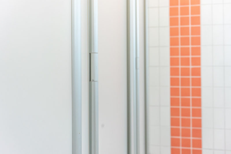 Space shower cubicles at Hjällbo school